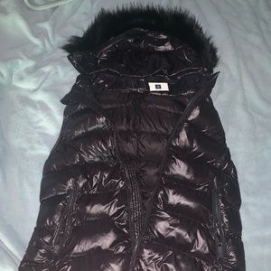 Black puffy vest from GAP
